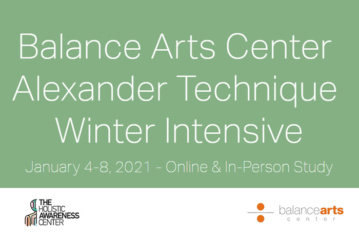 Alexander Technique Winter Online Workshop with Balance Arts Center, ΝΥ